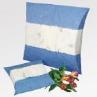 Világoskék papír urna- gyermek méret, vízi temetéshez
