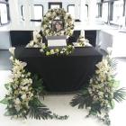 Dunai hajós temetés - ravatal