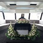 Hajós temetés ravatal, környezetbarát urna
