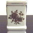Hollóházi porcelán urna - rózsás iker-urna