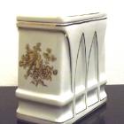 Hollóházi porcelán urna - rózsás iker urna