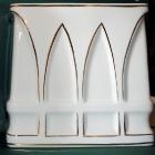 Hollóházi porcelán urna - iker urna