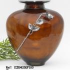 Ezüst fém narancs urna rózsával