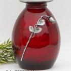 Rózsás piros fém urna