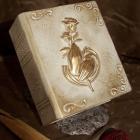 Könyv urna - fehér rózsa-kéz