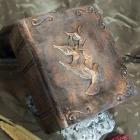 Könyv urna - bronz galamb
