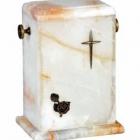 Álló onyx urna - márvány erezettel