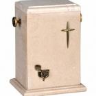 Álló onyx urna - világos, kereszttel