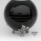 Fekete gömb fém urna