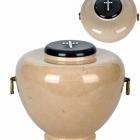 Öblös homokszínű onyx urna