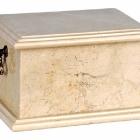 Törtfehér fekvő onyx urna