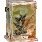 Színes, galambos álló onyx urna