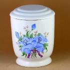 Kézzel festett nefelejcses urna