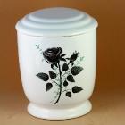 Kézzel festett rózsás urna