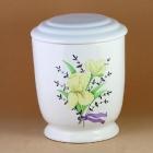 Kézzel festett virágos urna