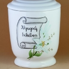 Kézzel festett idézetes urna