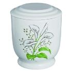 5Kézzel festett kerámia urna - virágos