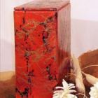 Márvány hatású urna - bordó-arany, iker